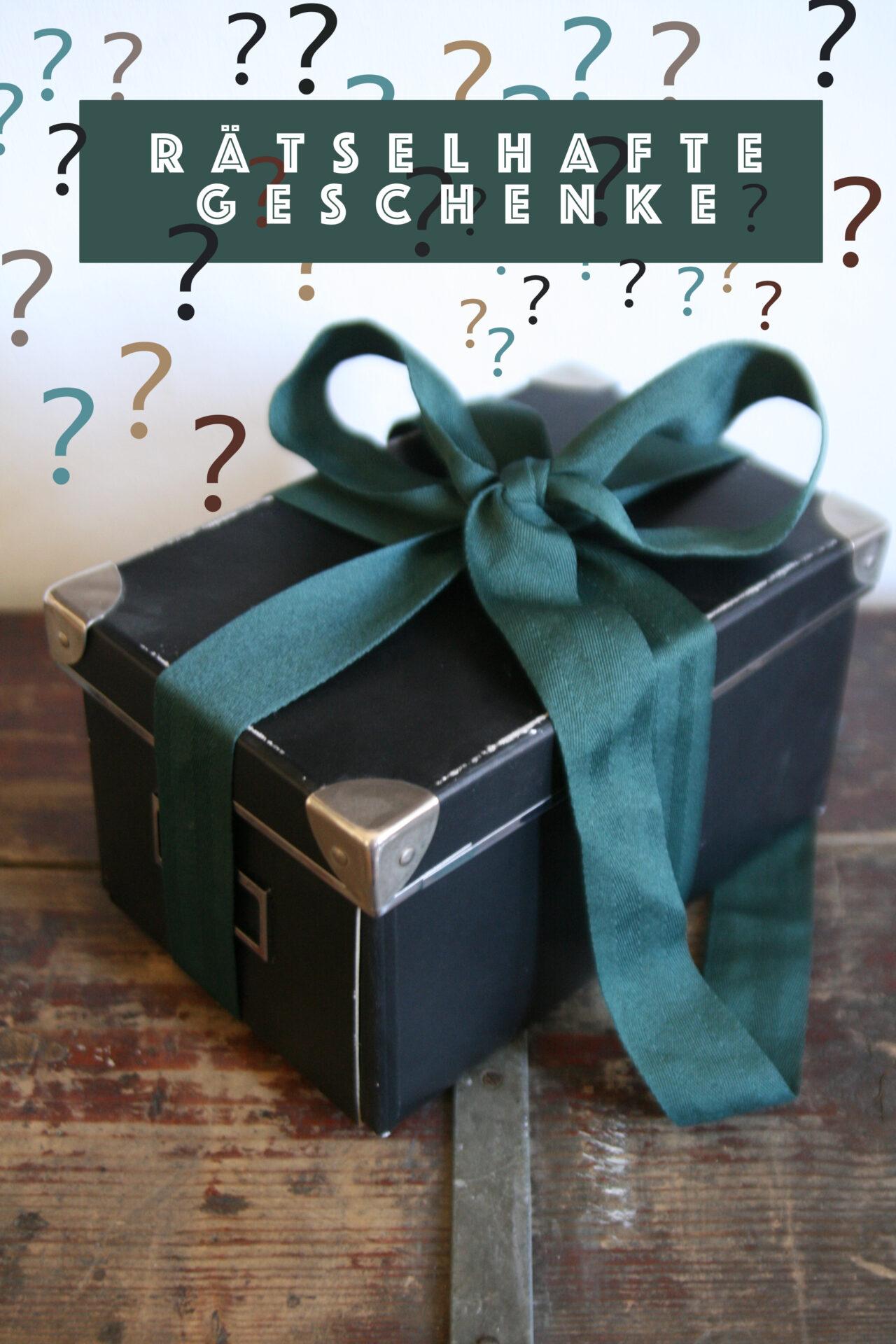 Rätsel verpacken als geschenk Geschenke als